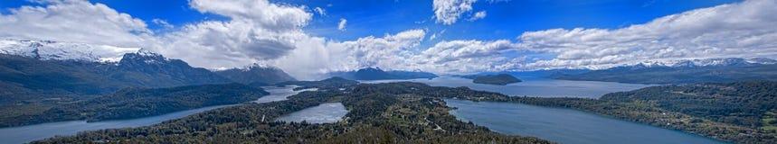 Panorama do parque nacional de Nahuel Huapi Foto de Stock Royalty Free