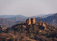 Panorama do parque nacional do Rodes-Matopos Fotos de Stock