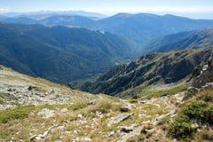 Panorama do pico de Malyovitsa ao monastério de Rila, montanha de Rila, Foto de Stock