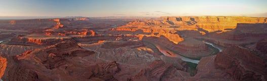 Panorama do ponto de Deadhorse no nascer do sol Fotografia de Stock Royalty Free