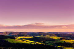Panorama do por do sol Imagem de Stock Royalty Free