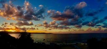 Panorama do por do sol Imagem de Stock Royalty Free