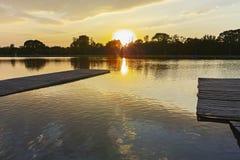 Panorama do por do sol de enfileirar o local de encontro na cidade de Plovdiv fotos de stock royalty free