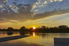 Panorama do por do sol de enfileirar o local de encontro na cidade de Plovdiv imagens de stock royalty free