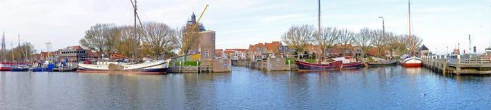 Panorama do porto de Enkhuizen Países Baixos Imagens de Stock