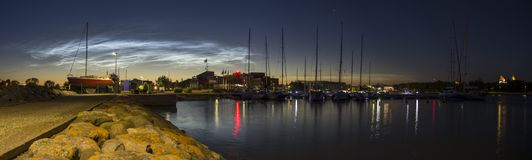 Panorama do porto de Kuressaare Foto de Stock Royalty Free