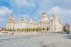 Panorama do porto de Liverpool imagens de stock royalty free