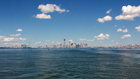 Panorama do porto de NYC Foto de Stock