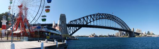 Panorama do porto de Sydney Fotos de Stock Royalty Free
