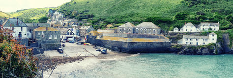 Panorama do porto Isaac da vila, Cornualha Foto de Stock Royalty Free