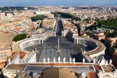 Panorama do quadrado do ` s de St Peter da abóbada imagem de stock
