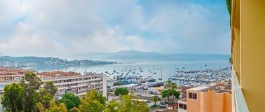 Panorama do quarto litoral de Ajácio imagem de stock