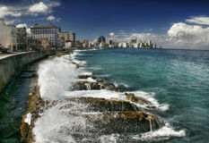 Panorama do quay de Havana-2 Fotografia de Stock Royalty Free