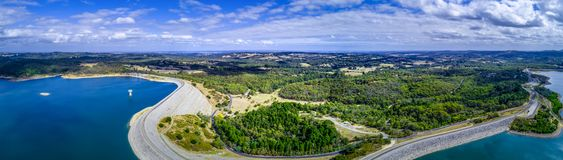 Panorama do reservatório e do parque de Cardinia foto de stock