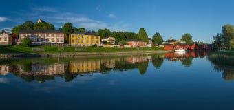 Panorama do rio de Porvoo Fotos de Stock Royalty Free