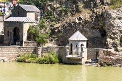Panorama do Rio Kura imagem de stock
