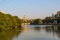 Panorama do Rio Kura imagens de stock