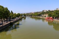 Panorama do Rio Kura fotografia de stock