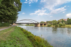 Panorama do rio Weser Fotografia de Stock Royalty Free
