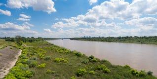 Panorama do Riverbank, Varsóvia Fotografia de Stock