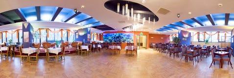 Panorama do salão de baile do hotel Fotografia de Stock