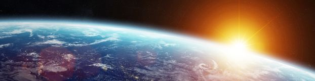 Panorama do sistema distante do planeta em elementos da rendição do espaço 3D ilustração royalty free
