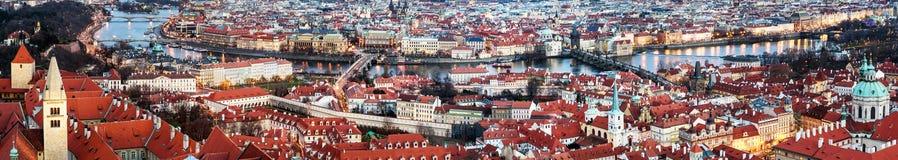 Panorama do telhado de Praga Imagens de Stock Royalty Free