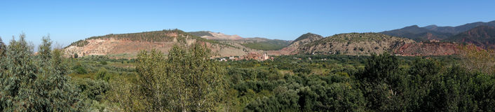 Panorama do vale de Ourika Imagens de Stock Royalty Free