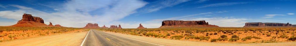 Panorama do vale do monumento Imagens de Stock Royalty Free