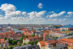 Panorama do verão de Copenhaga imagens de stock