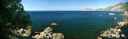 Panorama do verão do mar Imagens de Stock Royalty Free