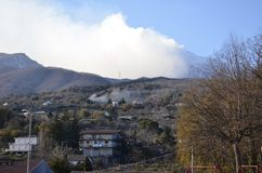 Panorama do vulcão Etna Imagens de Stock