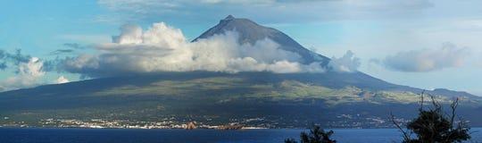Panorama do vulcão Pico, Açores Fotografia de Stock Royalty Free