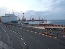 The panorama of docks Royalty Free Stock Photography