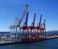 Panorama - Dockyard cranes f Royalty Free Stock Photos