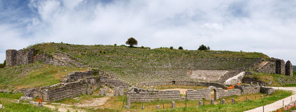 Panorama of Dodoni ancient theatre, Epirus, Greece Stock Images