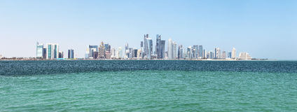 Panorama of doha Stock Photography