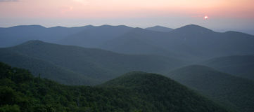 panorama dolina shenandoah Zdjęcia Royalty Free