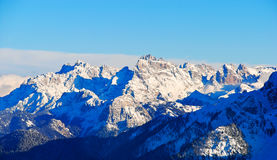 Panorama of Dolomites mountain in Dolomites, Italy Royalty Free Stock Photo