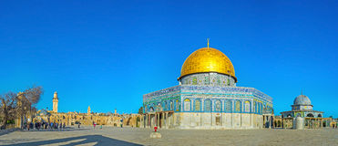 Panorama of the Dome of the Rock Royalty Free Stock Photos