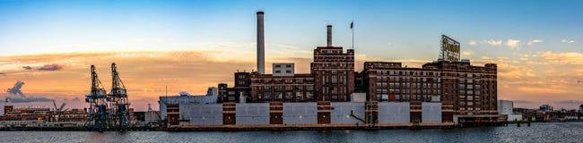Panorama of Domino Sugar Plant Stock Photos