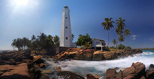 Panorama of Dondra Lighthouse Royalty Free Stock Photography