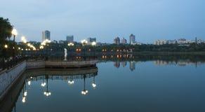 Panorama Donetck city Stock Photo