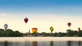 Panorama dos alces com balões Fotos de Stock Royalty Free