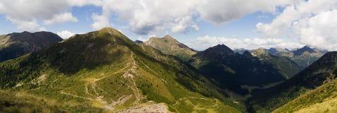 Panorama dos alpes Foto de Stock