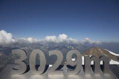 Panorama dos cumes Fotografia de Stock