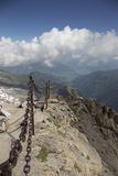 Panorama dos cumes Fotografia de Stock Royalty Free