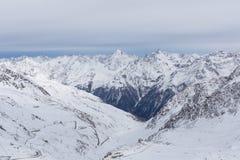 Panorama dos cumes em Solden, Áustria Imagem de Stock