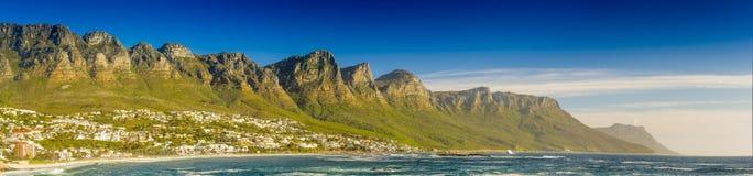 Panorama dos doze apóstolos em África do Sul Imagem de Stock