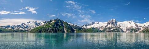 Panorama dos fiordes de Kenai fotografia de stock royalty free